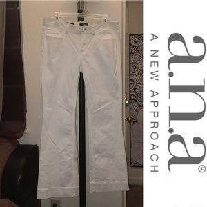 A.n.a Modern Boot cut White Jeans